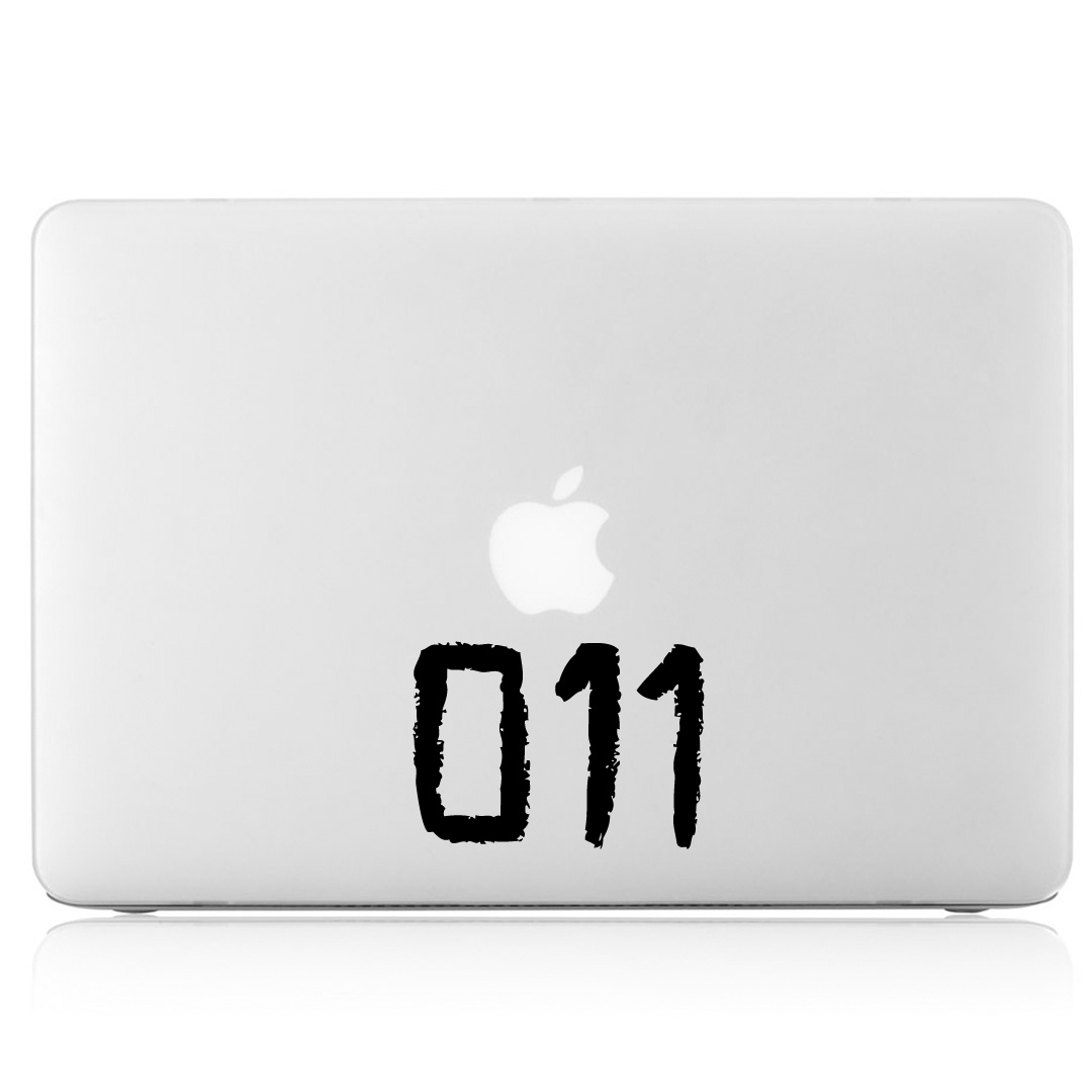 Eleven tattoo 011 viny decal sticker for apple macbook air for Eleven tattoo stranger things