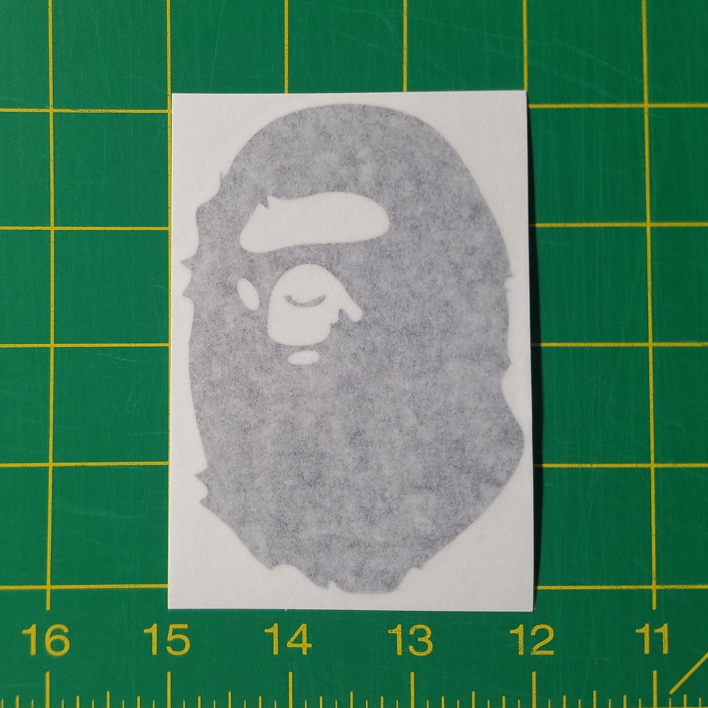 Bape Ape Gorilla Logo Vinyl Decal Sticker For Apple